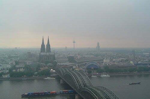 Köln aus der Vogelperspektive.